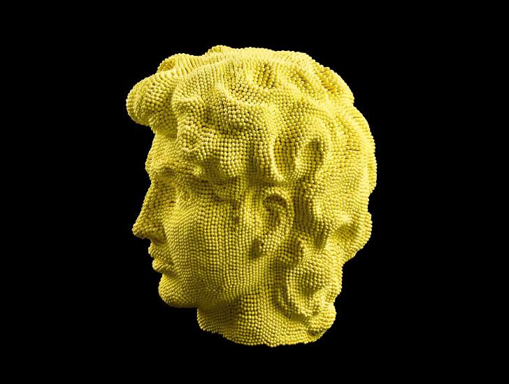 "Michelangelo's ""David"" made from Matchsticks"