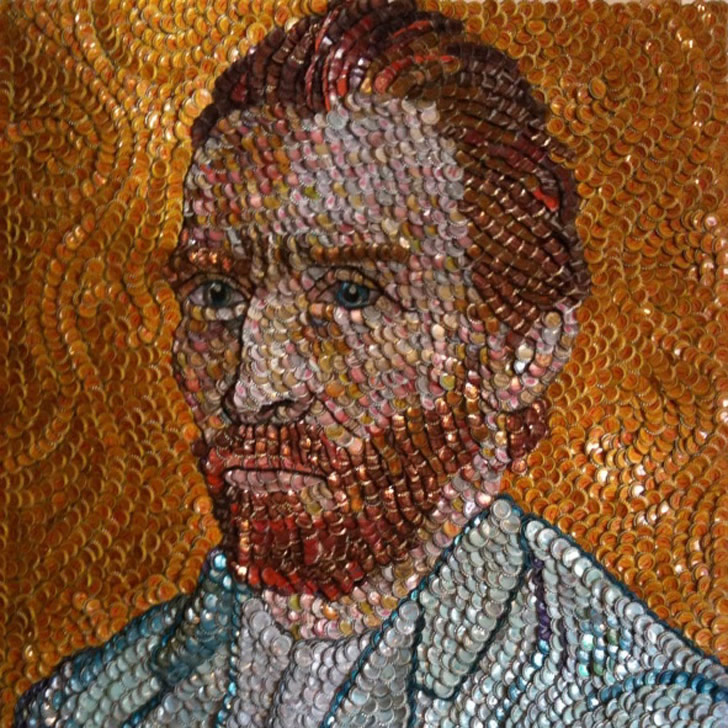 Bottle Cap Van Gogh