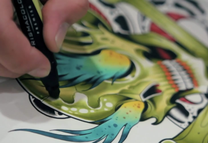 Film stills from David Tevenal: Tattoo Flash (2)
