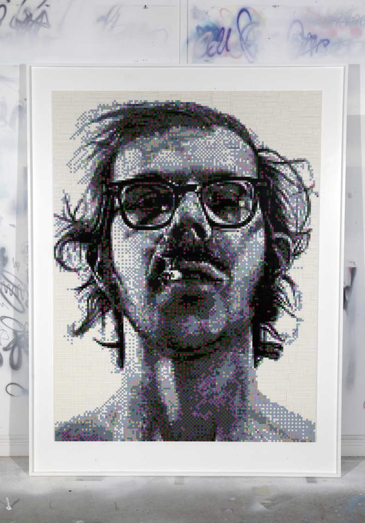 Portrait of Chuck Close by Mr. Joe Black (2)