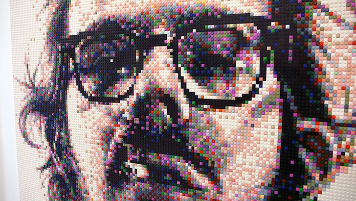 Portrait of Chuck Close by Mr. Joe Black (4)