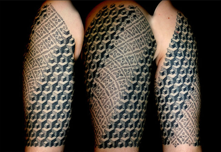 Polynesian And Escher Inspired Tattoos Scene360