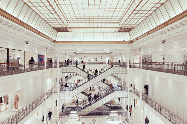 Zigzag Escalators: Photography by Franck Bohbot