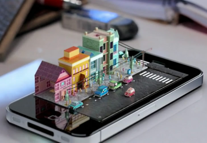 A Small Town emerges on an iPhone