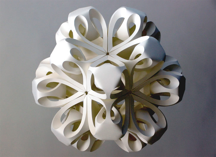 Three-dimensional Paper Snowflakes and Shell