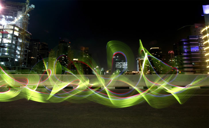 Light Graffiti Bombing