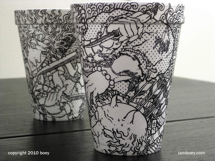 Drawing on coffee cup by Cheeming Boey (4)