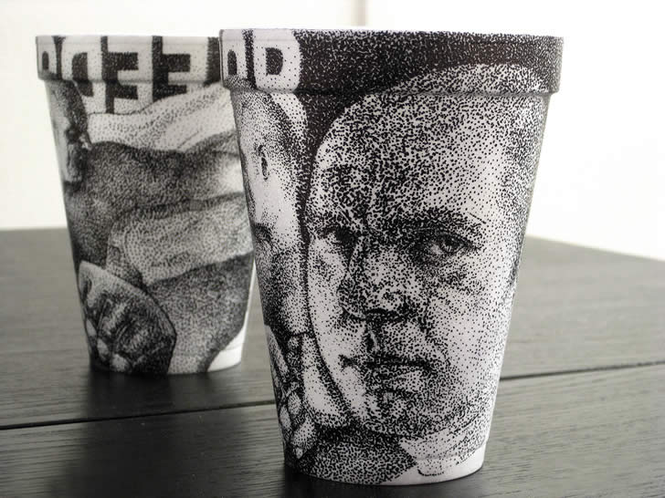 Drawing on coffee cup by Cheeming Boey (2)