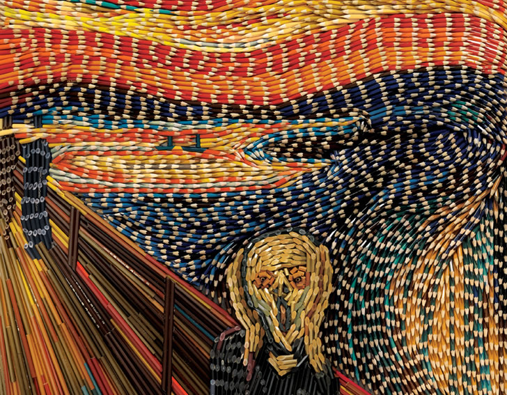 """The Scream"" in Colored Pencils"