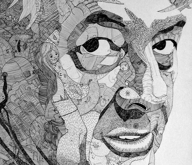 Intricate Doodle Portraits