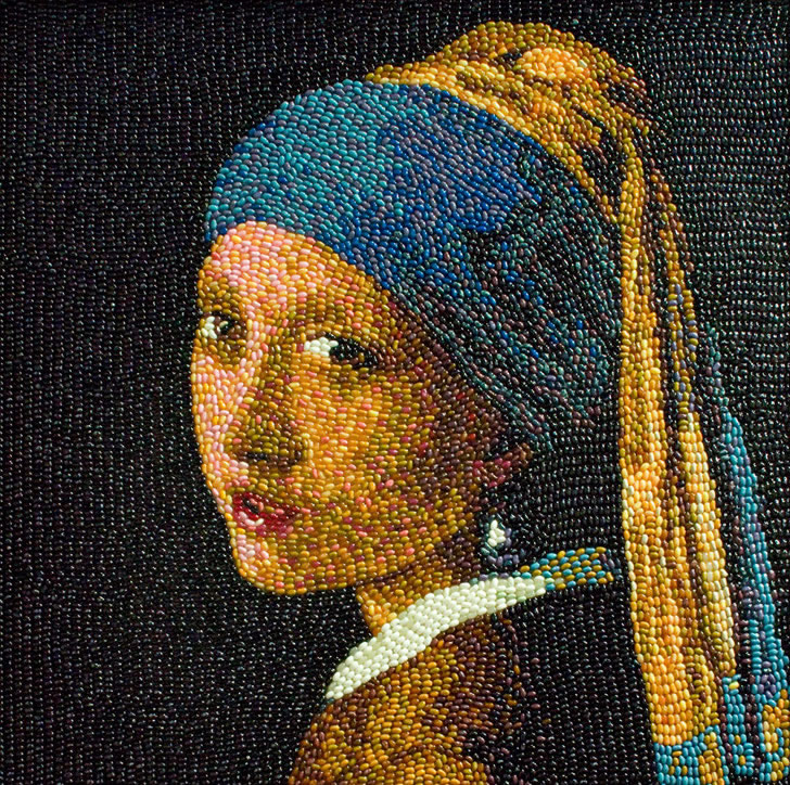 Classic Paintings replicated in Jelly Beans