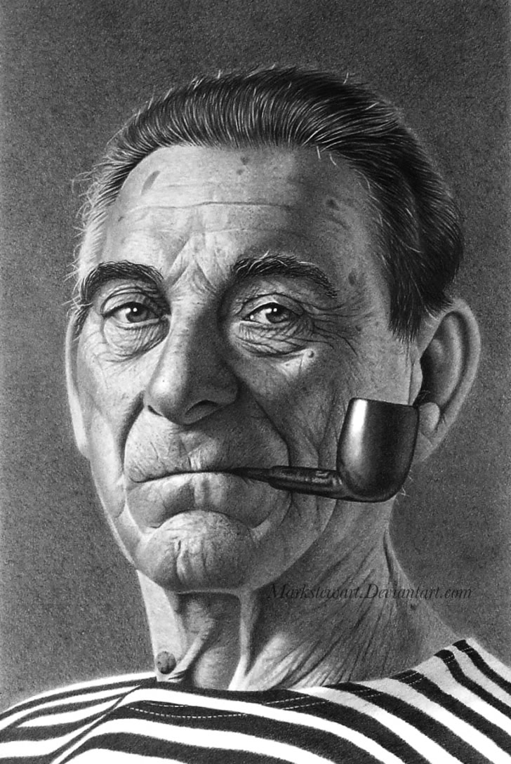 Realistic drawing by Mark Stewart (6)