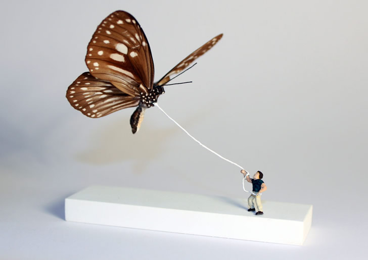 Miniature Art: The Butterfly Kite