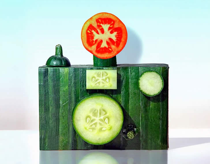 Fruit and Vegetable sculpture by Dan Cretu (2)