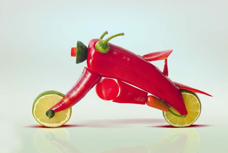 Fruit and Vegetable sculpture by Dan Cretu (4)