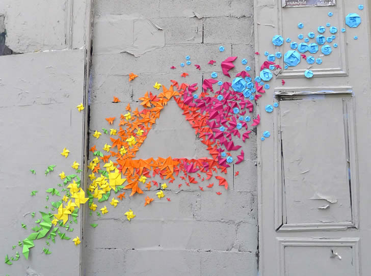 Origami Graffiti by Mademoiselle Maurice (2)