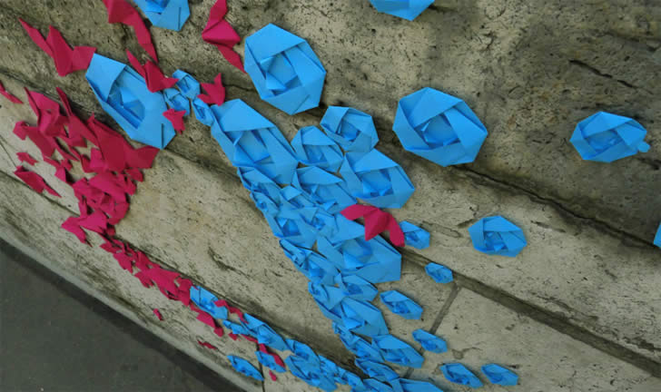 Origami Graffiti by Mademoiselle Maurice (4)