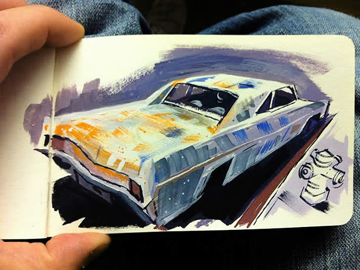 Sketchbook painting by Matthew Cuikshank (3)