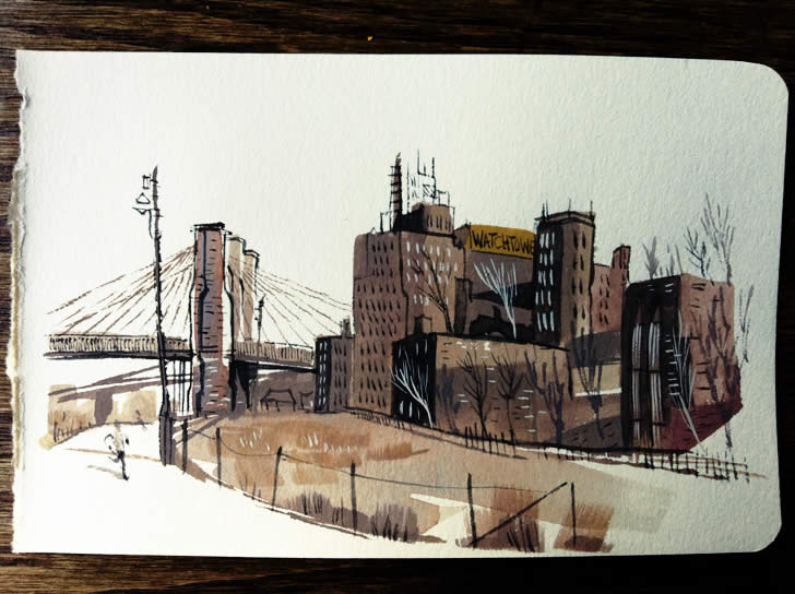 Sketchbook painting by Matthew Cuikshank (1)