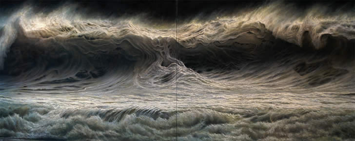 Realistic sea painting by Ran Ortner (2)
