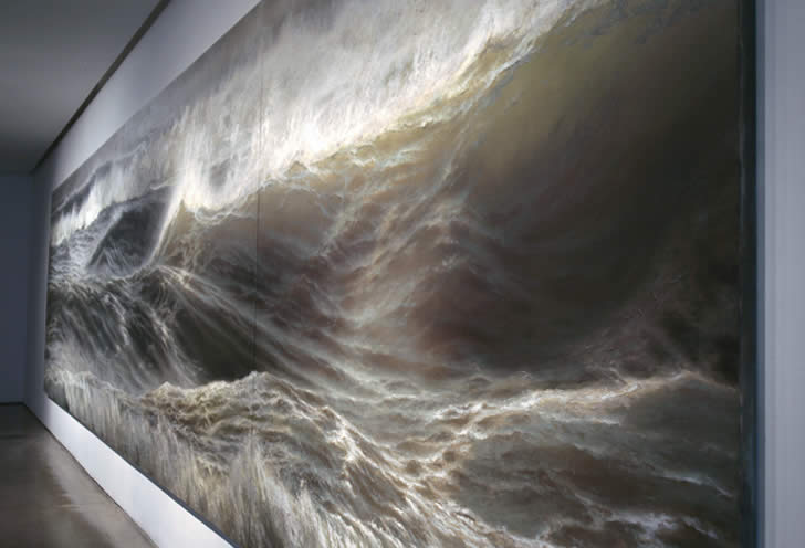 Realistic sea painting by Ran Ortner (1)