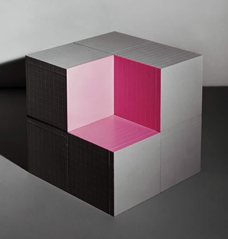 Cube Optical illusion by Jessica Eaton (2)