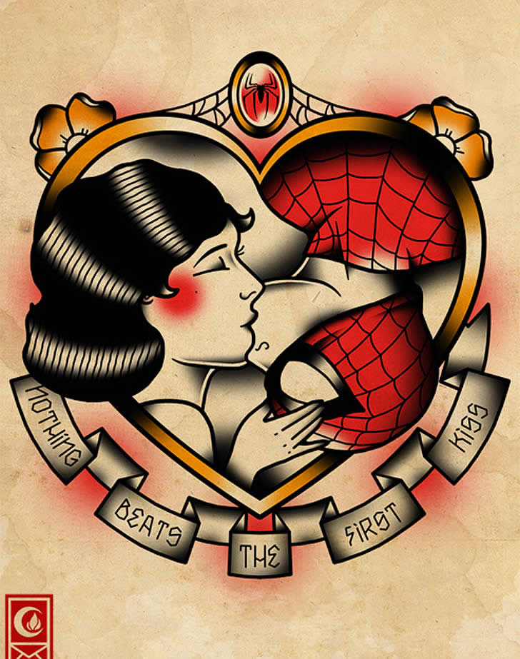 Tattoo Designs: Superheroes Romance and Battle