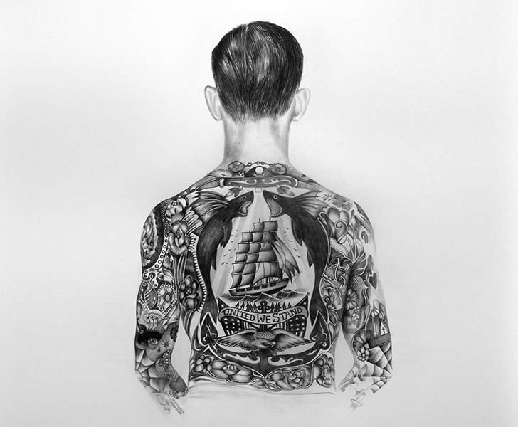 Paper tattoo by .Jacob Dahlstrup (4)