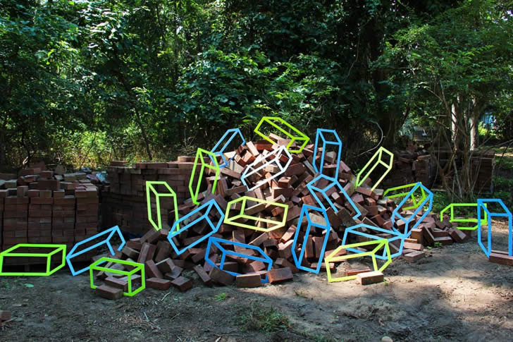 Optical Illusion installation by Aakash Nihalani (3)