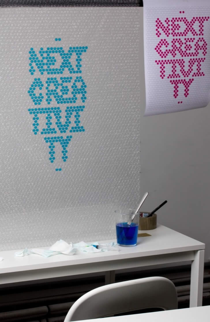 Bubble Wrap Typography by Lo Siento (5)