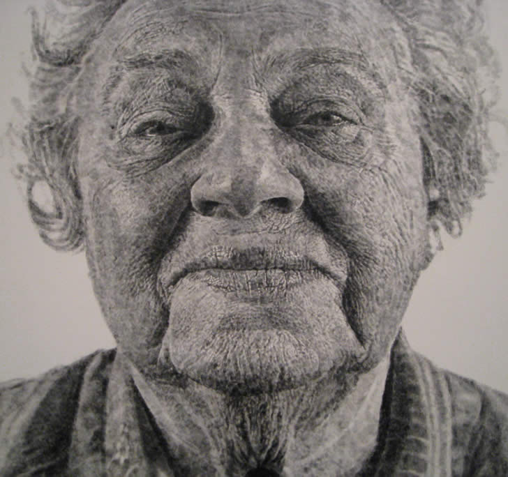 Fingerprint Art: Someone's Grandma