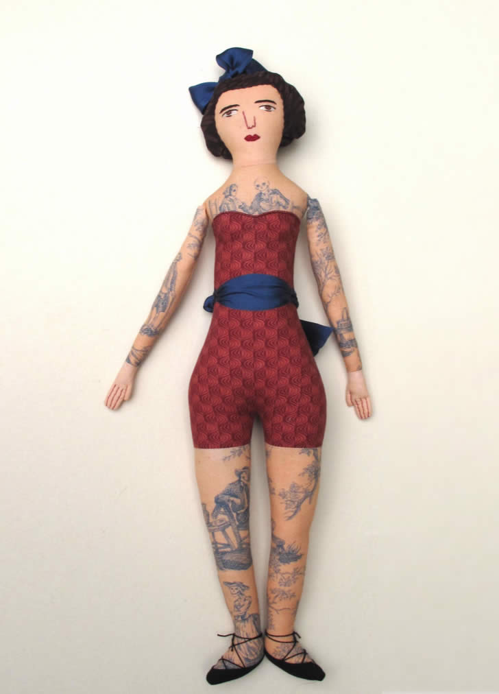Vintage Tattoo Doll by Mimi Kirchner (2)