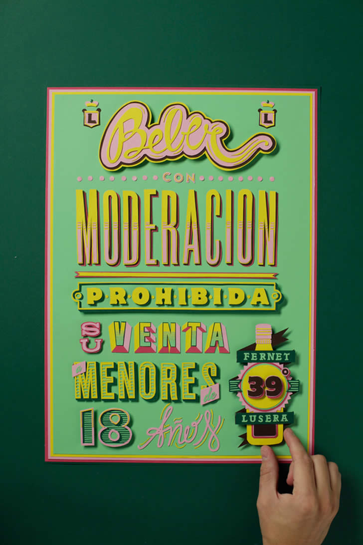 Typographic poster by Alfieri (6)