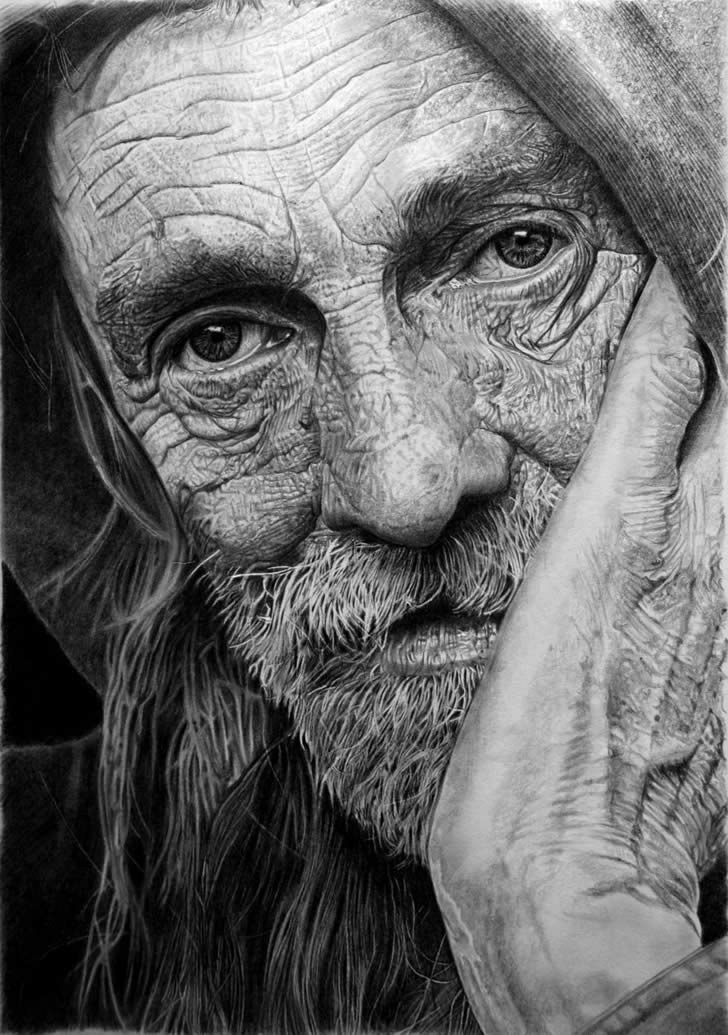 Portrait drawing by Franco Clun (3)