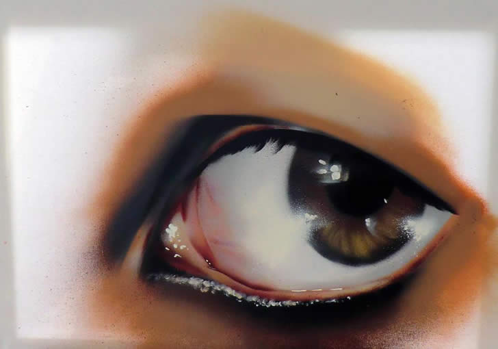 Spray painting of an eye by JustCobe (3)
