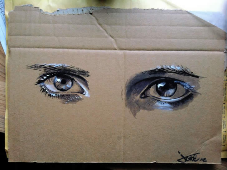 Spray painting of an eye by JustCobe (2)
