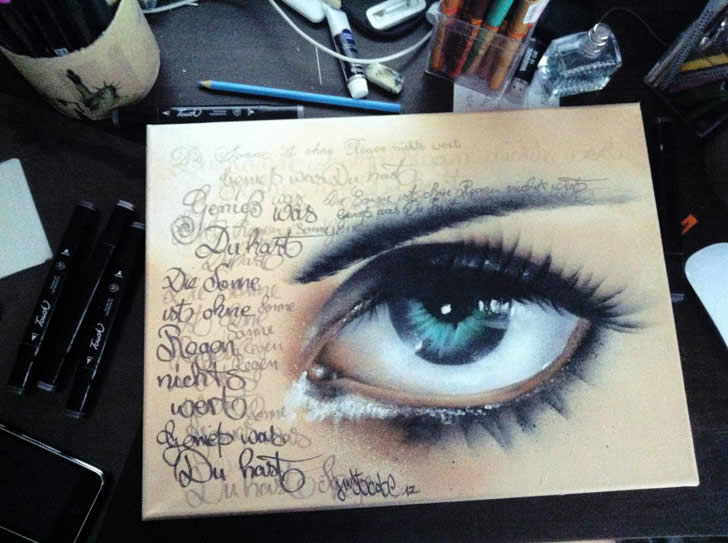 Spray painting of an eye by JustCobe (4)