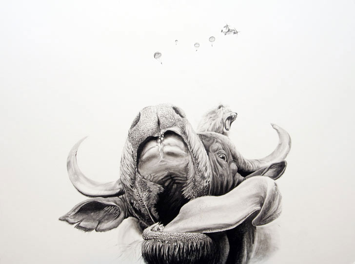 Pencil Drawing by Martin Kalanda