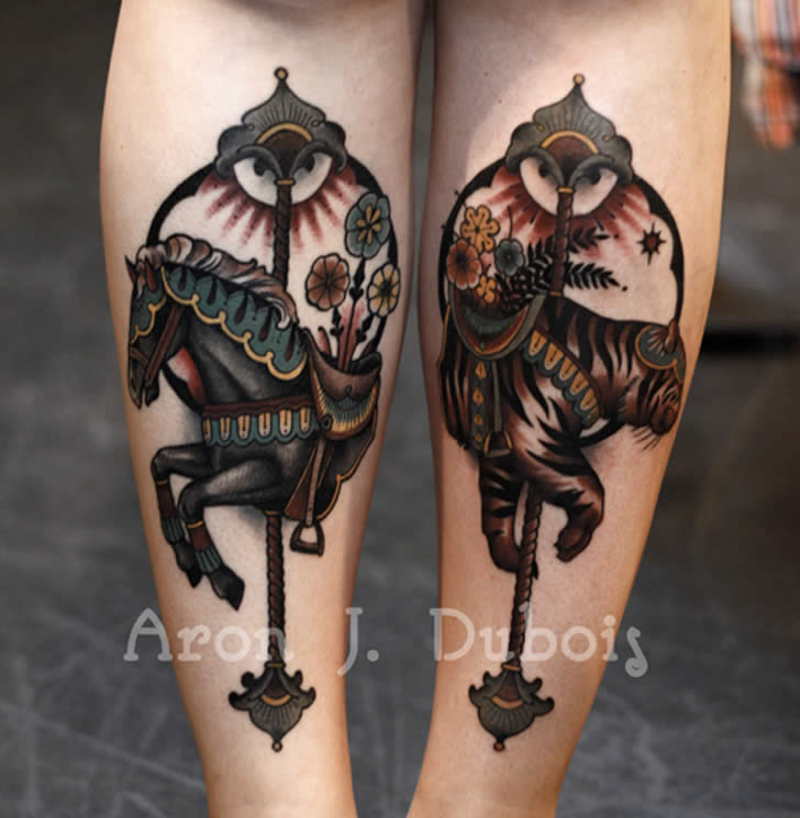 Horse tattoo by Aron Dubois
