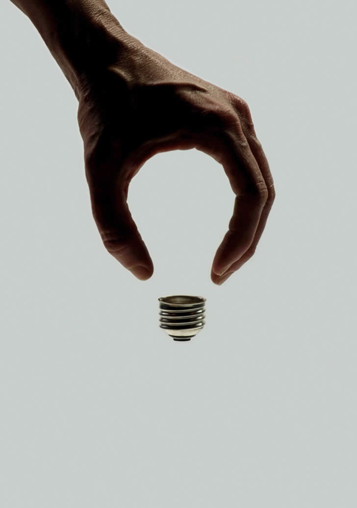 Hand Lightbulb by Brock Davis