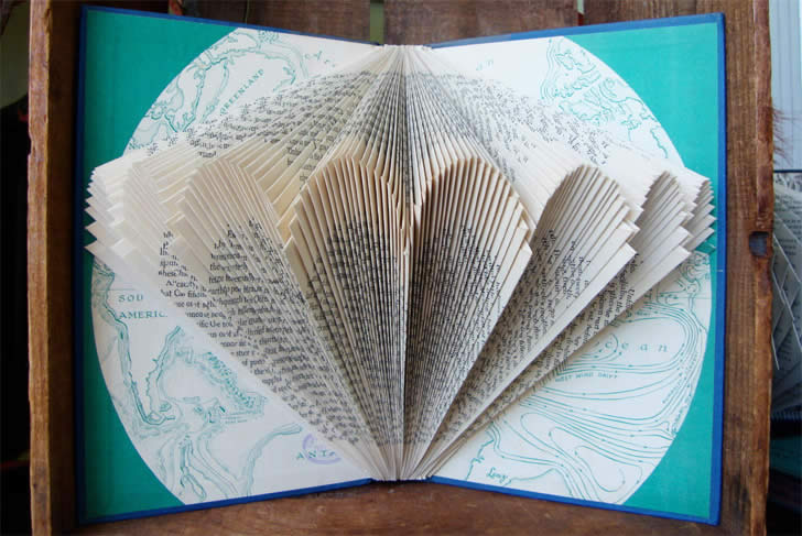 Umbrella book art by  Exploded Library