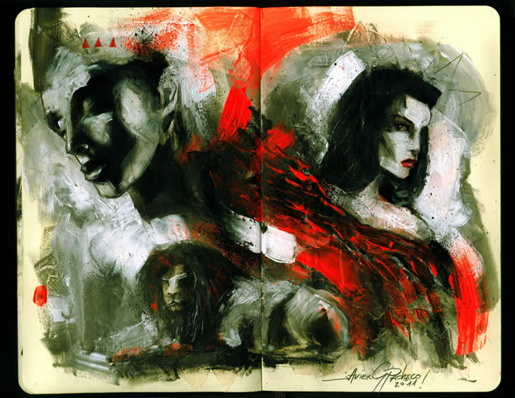 Sketchbook art by Javier Pacheco (1)