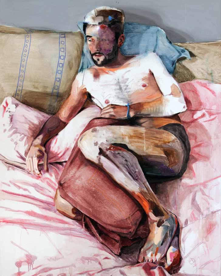 Figurative painting by Lou Ros