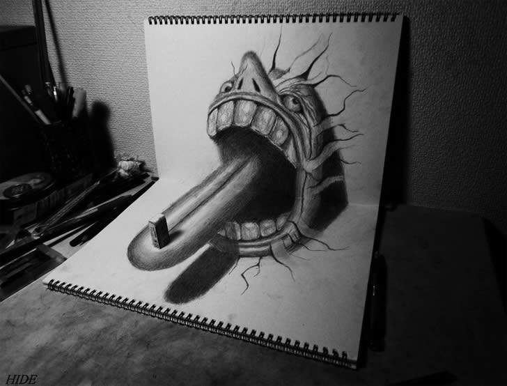 Optical illusion drawing by Nagai Hideyuki