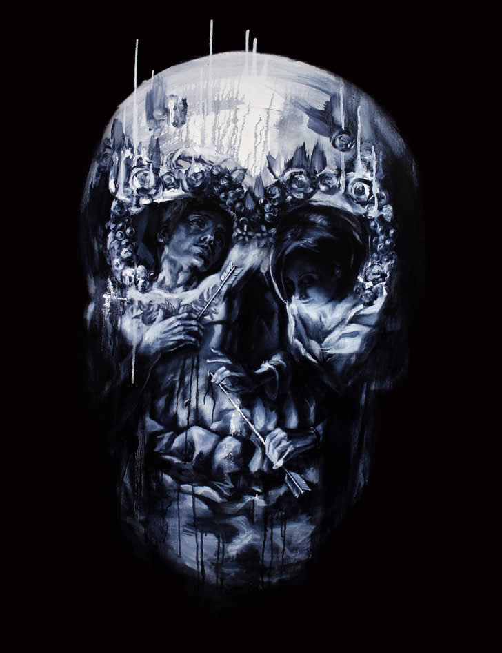 More Optical Illusion Skulls by Tom French