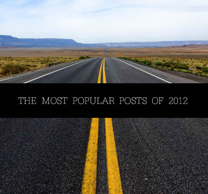 Photo of Open Road. The Most Popular Posts of  2012