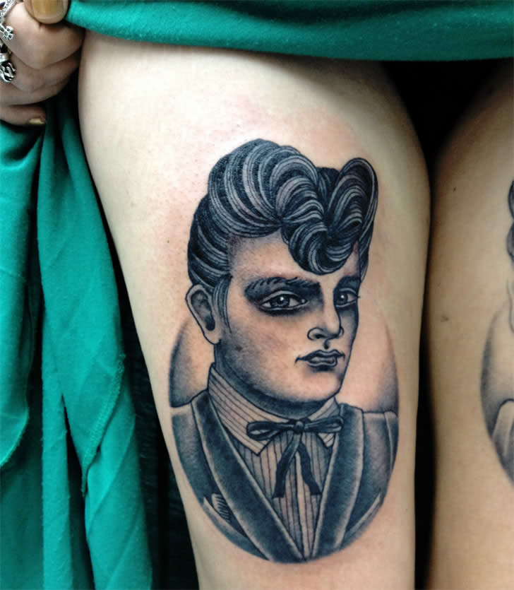 Vintage style tattoo by Sarah Carter 4