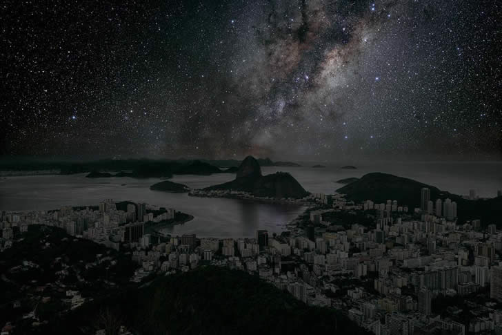 Rio de Janeiro. From series Darkened Cities by Thierry Cohen