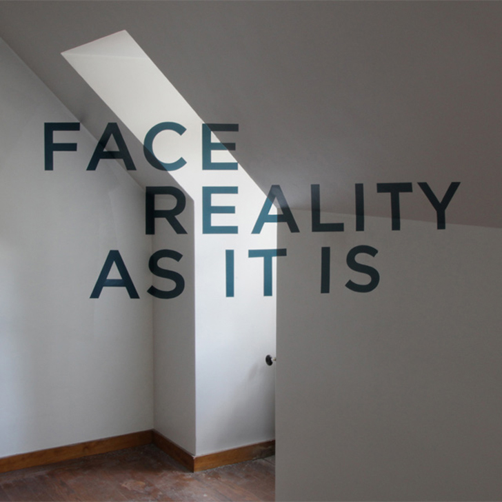 You Must Face Reality - Anamorphic lettering
