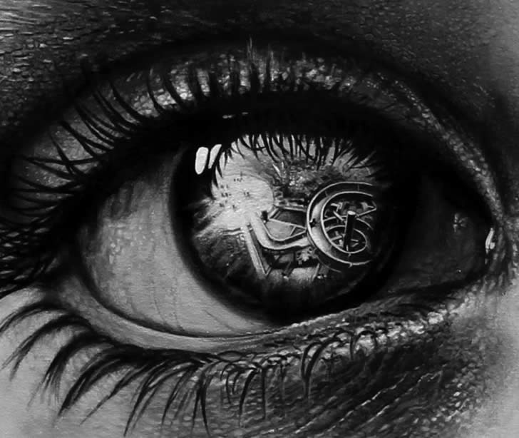 Realistic eye drawing by Veri Apriyatno